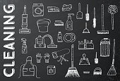Cleaning Tools. Vector Illustration. Cleaning service.