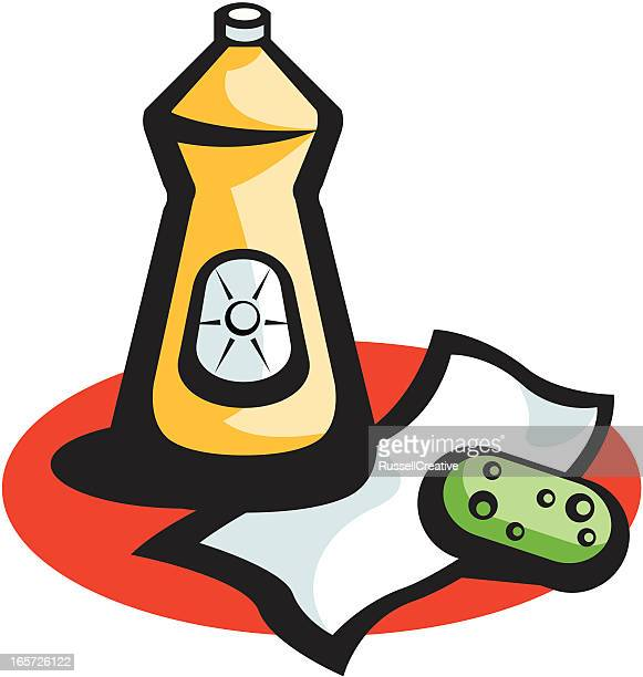 cleaning - paper towel stock illustrations, clip art, cartoons, & icons