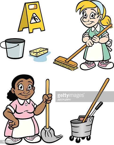 Mujeres limpieza de