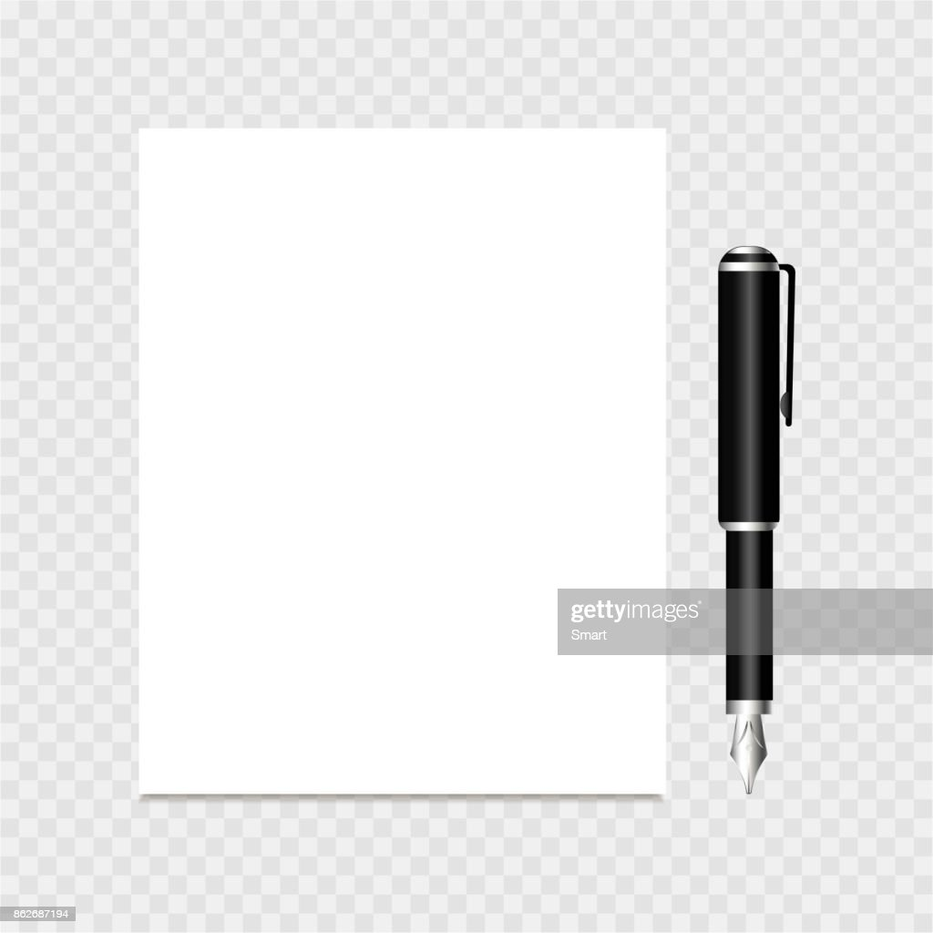 Clear list of paper and pen on a grey background