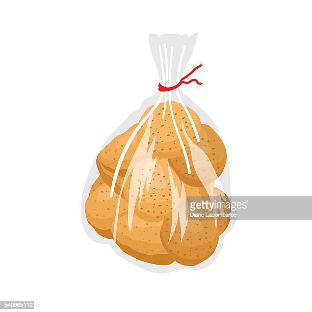 Clear Plastic Bag Of Potatoes