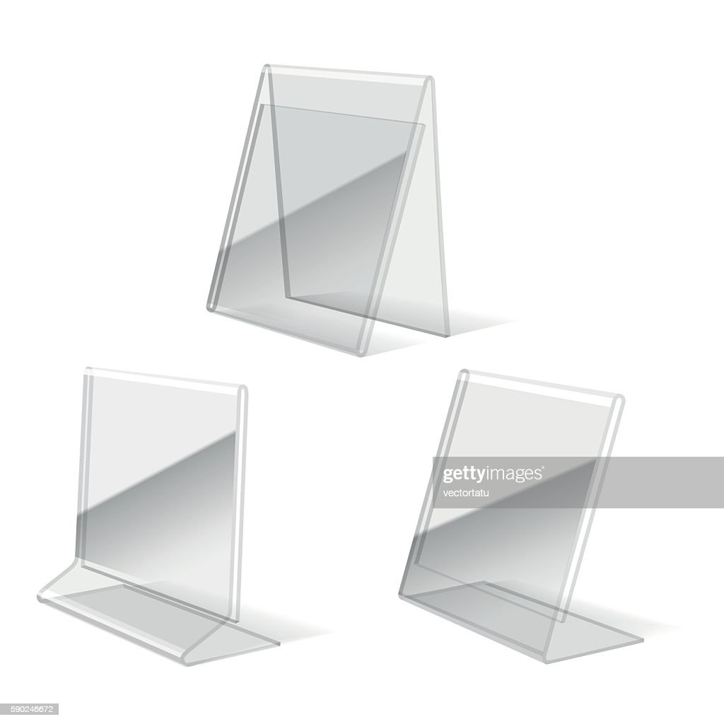 Clear plastic holder icons