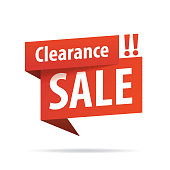 Clearance Sale Tag Banner vector heading design fashion style for banner or poster. Sale and Discounts Concept.