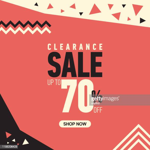 Clearance Sale with Up to 70% Off Banner Design