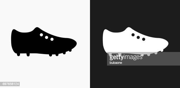 Cleats Icon on Black and White Vector Backgrounds