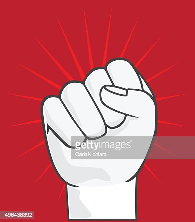 Clenched Fist Held In Protest Symbol Of Rebellion Vector Vector Art