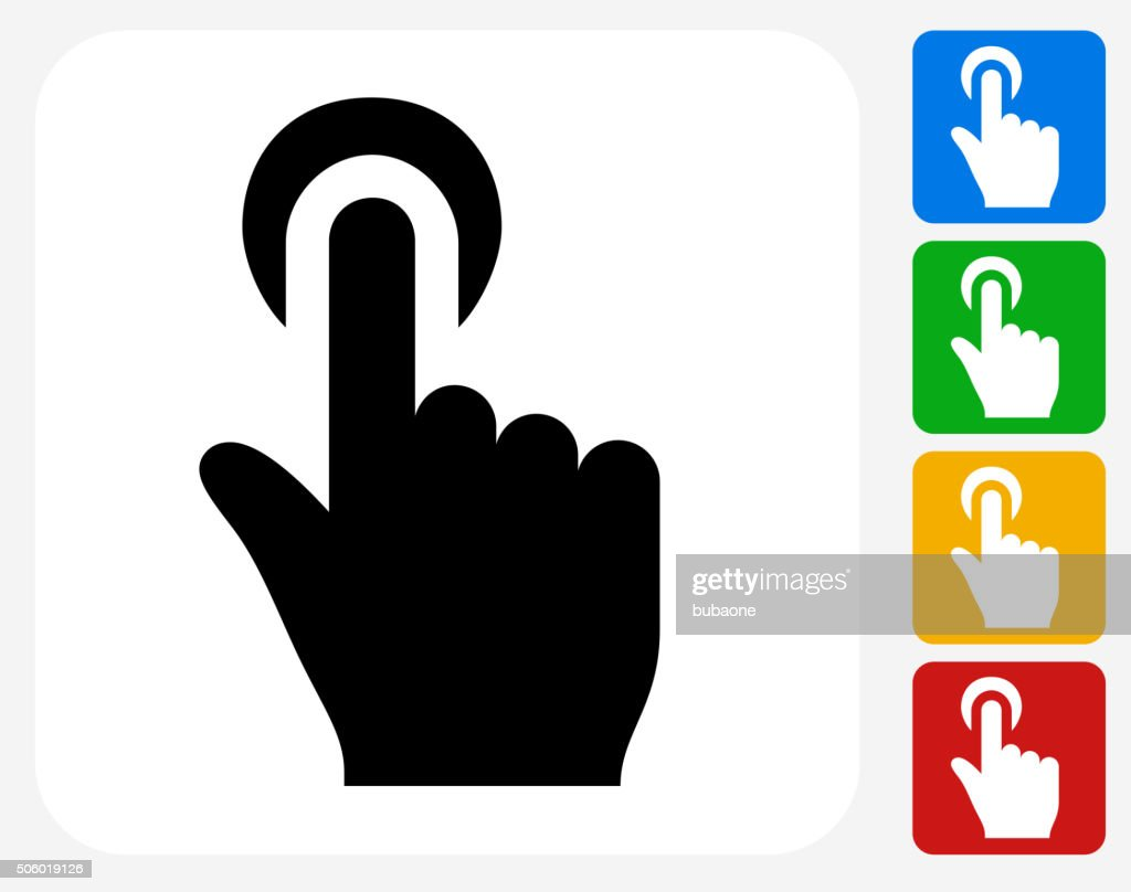 Click Choose Icon Flat Graphic Design
