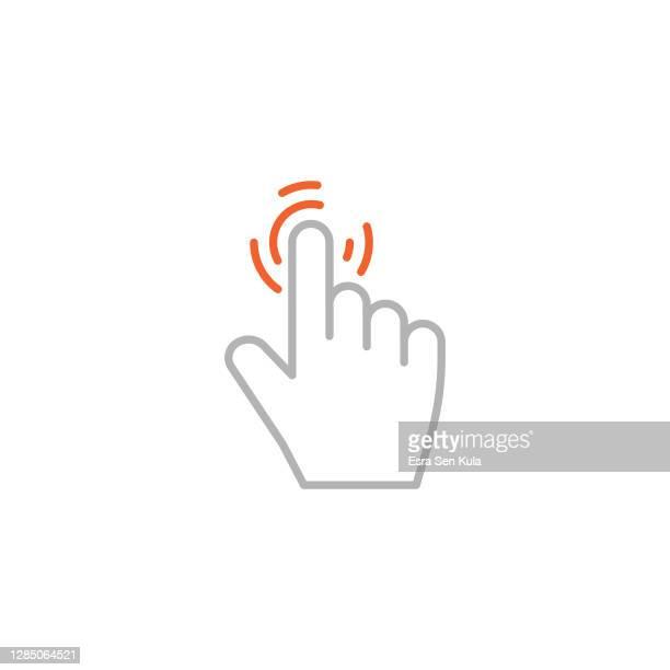 編集可能なストロークで手のアイコンをクリックします。 - 指差す点のイラスト素材/クリップアート素材/マンガ素材/アイコン素材