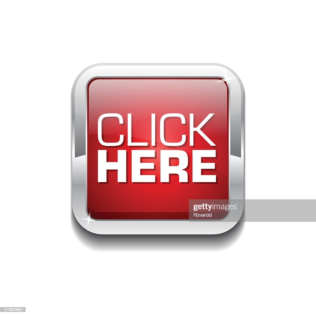 Click Here Red Vector Icon Button