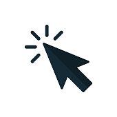 Click icon vector. Pointer Arrow