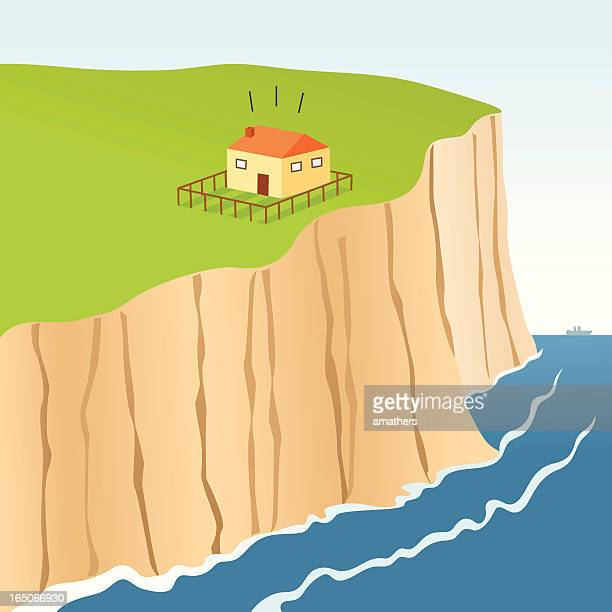 ilustraciones, imágenes clip art, dibujos animados e iconos de stock de cliff borde - valla límite