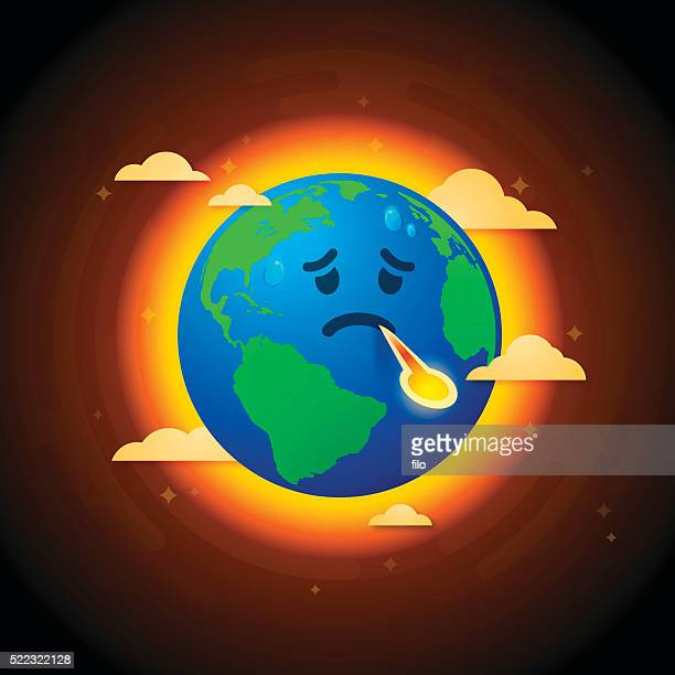 As alterações climáticas enjoado terra
