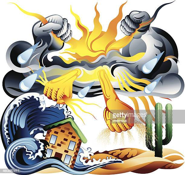 climate change - dehydration stock illustrations, clip art, cartoons, & icons