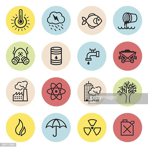 Climate Changes Icon Set