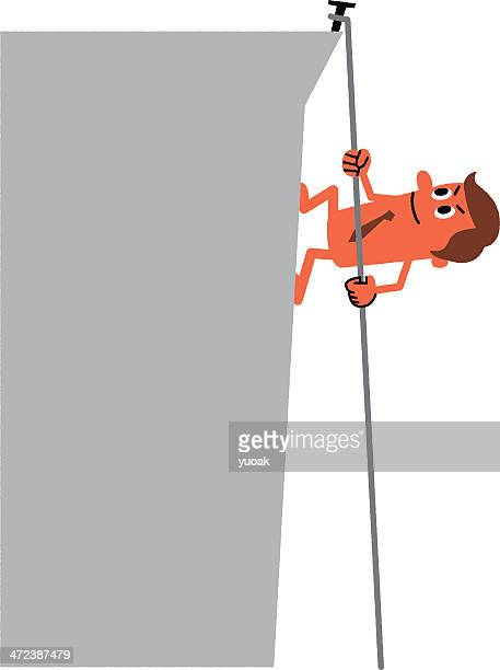 climber - steep stock illustrations, clip art, cartoons, & icons
