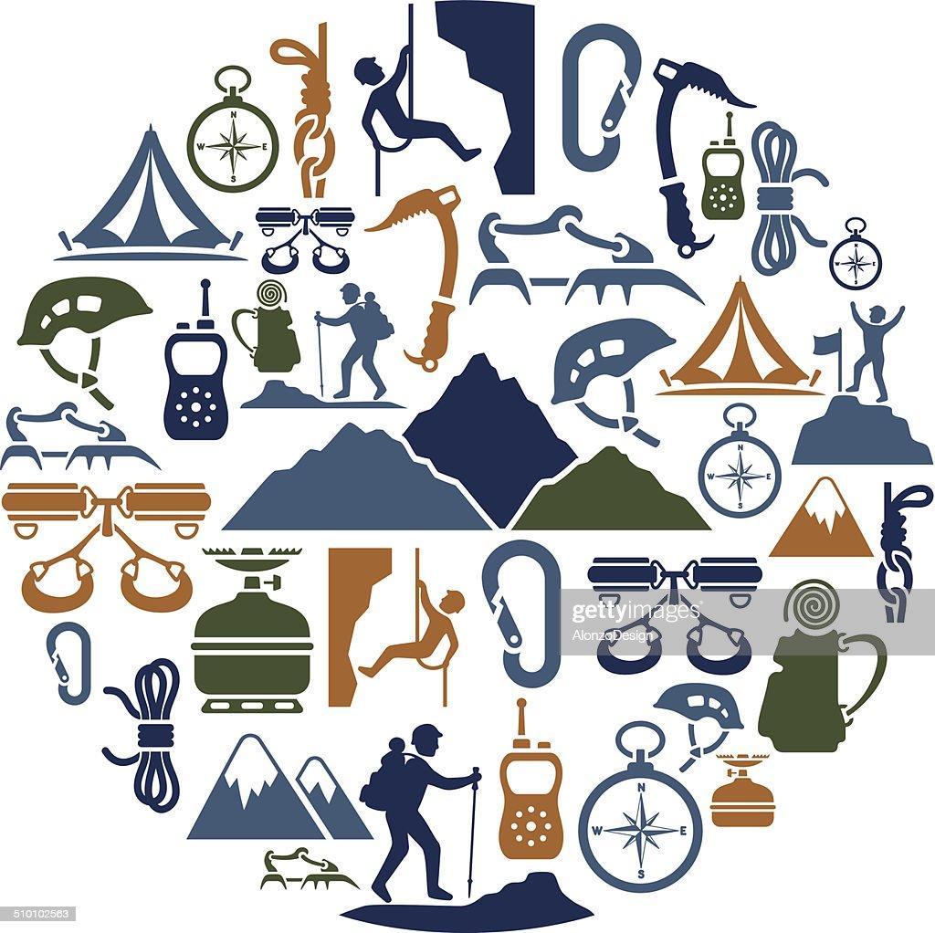 Climbing Collage : stock illustration