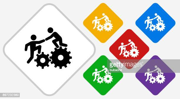 climbing gear color diamond vector icon - struggle stock illustrations