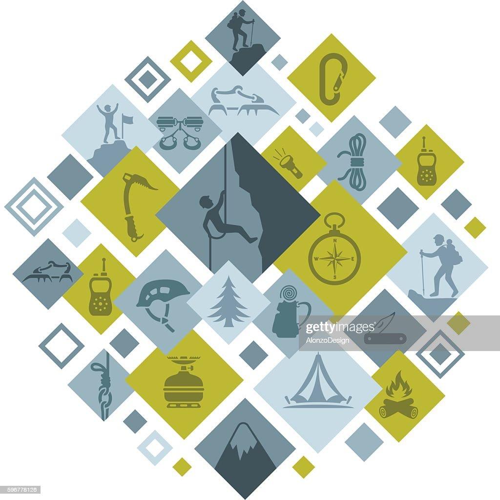 Climbing Montage : stock illustration
