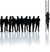 Climbing the Corporate Ladder (vectored)