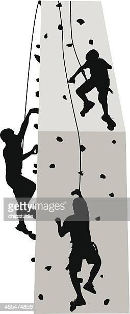 illustrations, cliparts, dessins animés et icônes de mur d'escalade - escalade