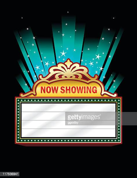 a clip art of a theater marquee - great exhibition stock illustrations, clip art, cartoons, & icons