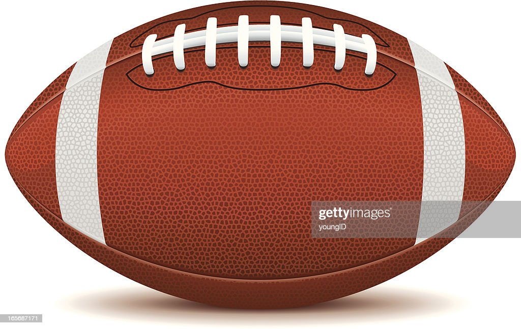 Clip art of an American football on a white background  : stock illustration