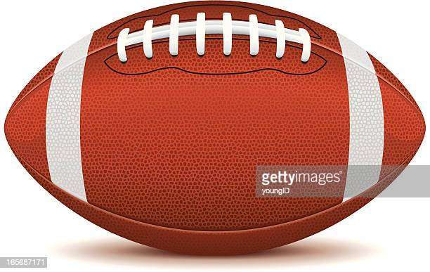 Clip art of an American football on a white background