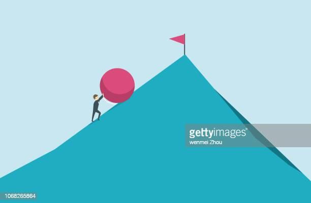 clip art - uphill stock illustrations