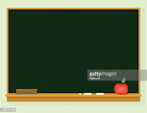 Clipart Back to School blank blackboard with chalk