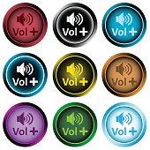 Clipart color icons volume plus