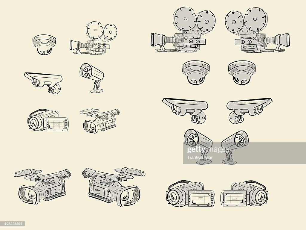 Clipart of video cameras