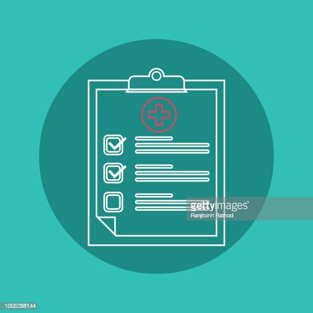 ilustrações, clipart, desenhos animados e ícones de área de transferência e marcas de seleção. ilustração do estilo plano desenho vetorial - formulário de pedido