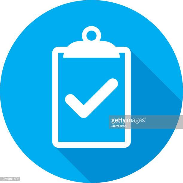 clipboard checkmark icon silhouette - questionnaire stock illustrations