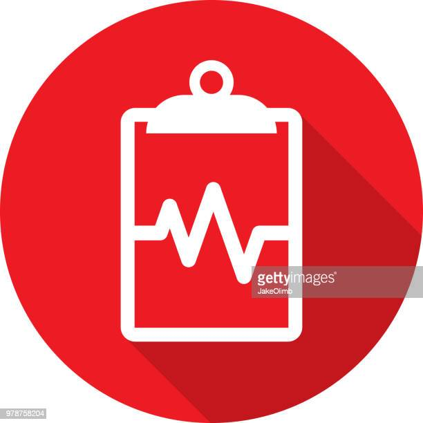 Clipboard Heartbeat Icon Silhouette