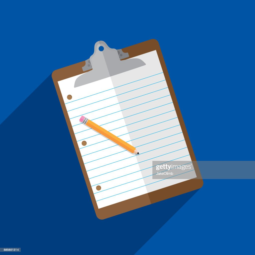 Clipboard Icon Flat : stock illustration