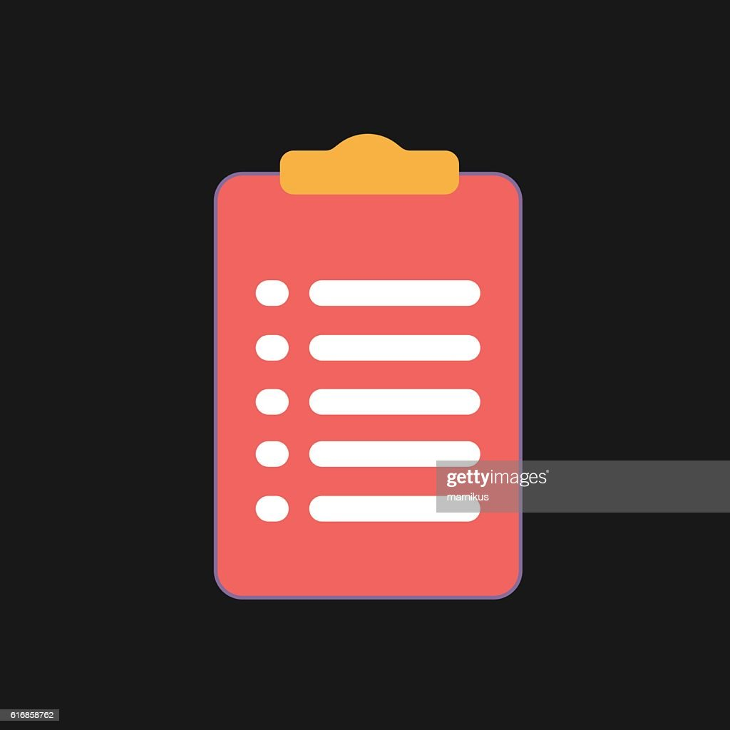 Clipboard icon with form.