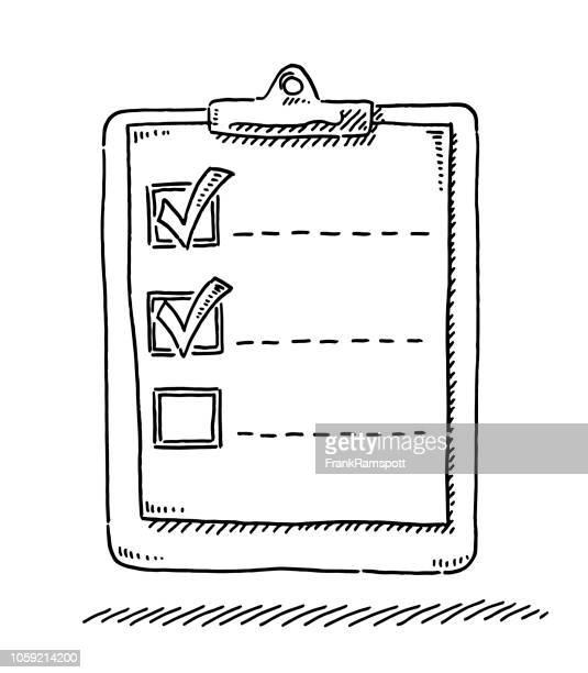 Zwischenablage Tickmark Symbol Zeichnung