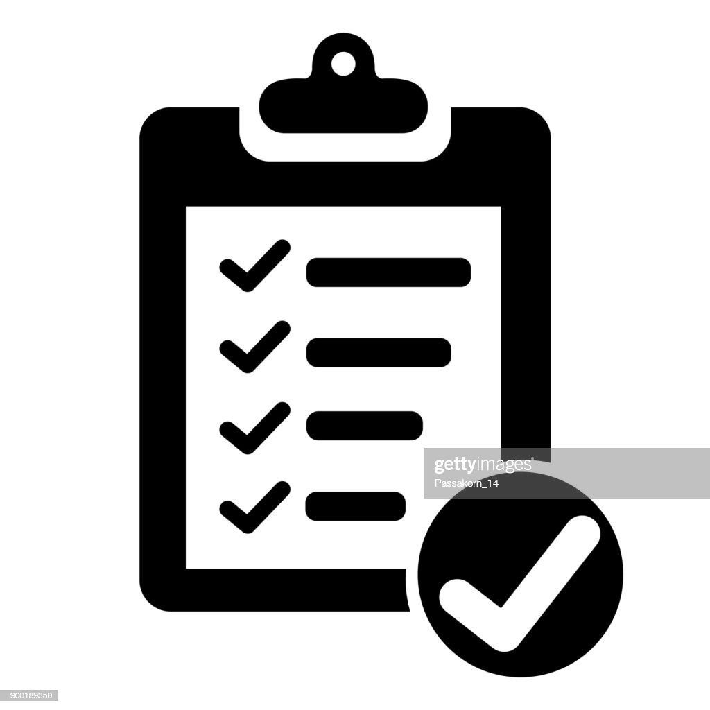 Clipboard with checklist