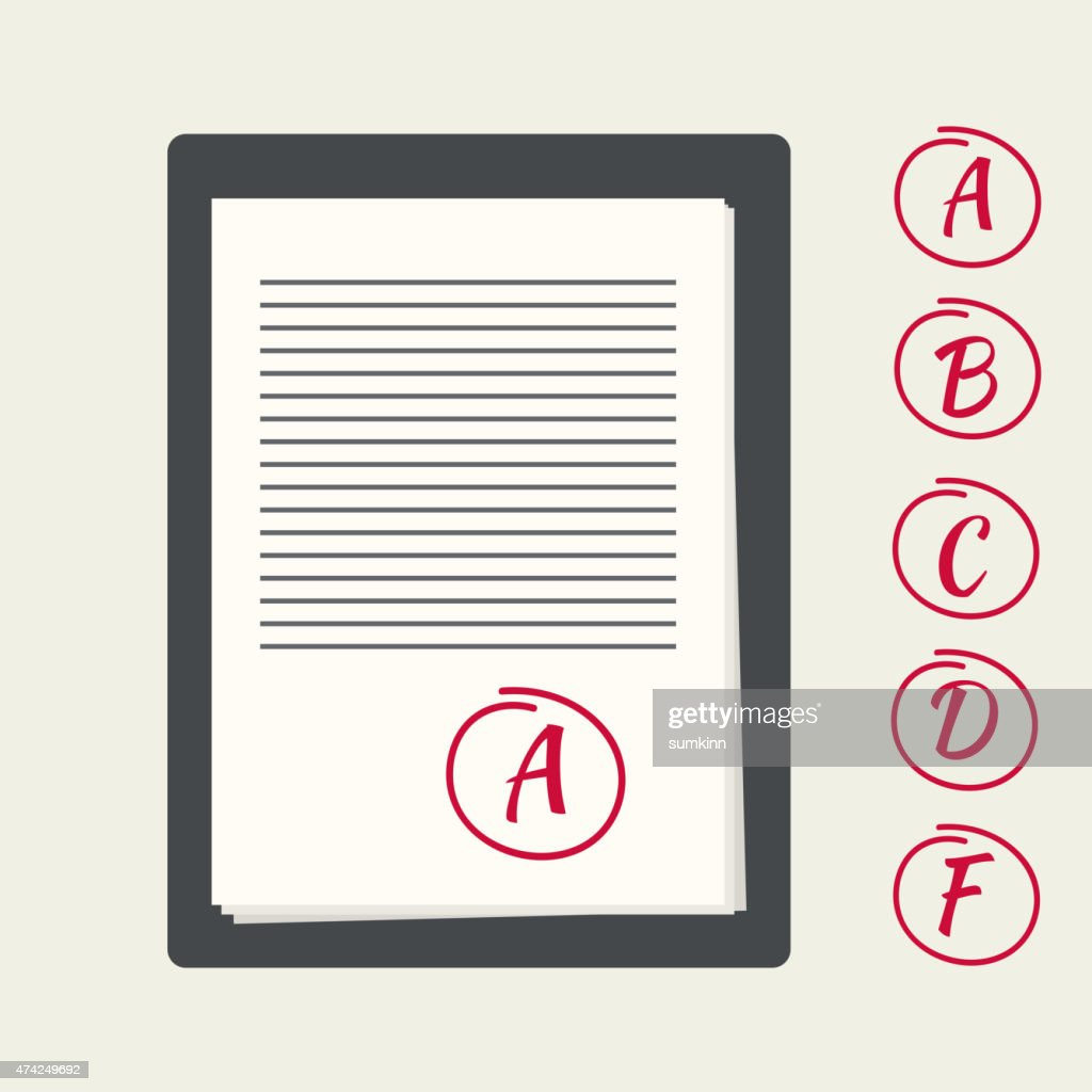 Clipboard with exam papers