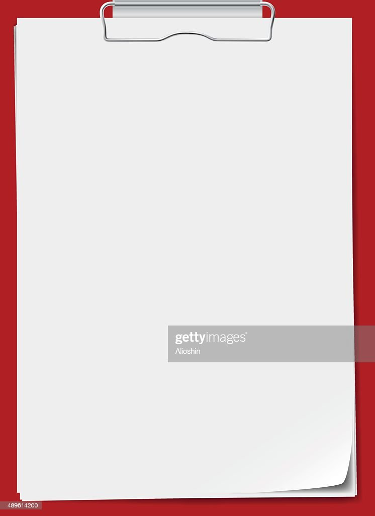 Clipboard with paper. Vector illustration