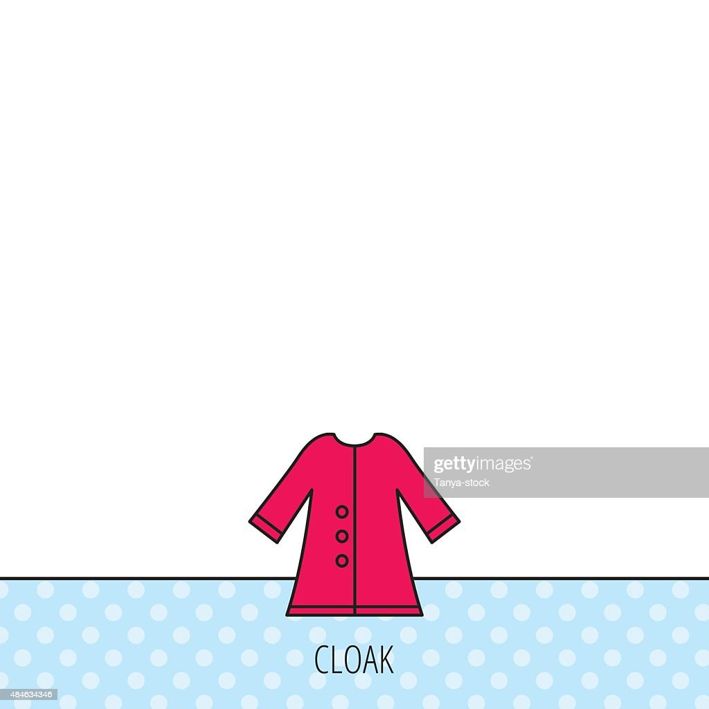 Cloak icon. Protection jacket outerwear sign.
