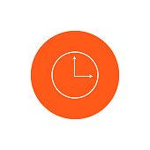 Clock and alarm round icon vector