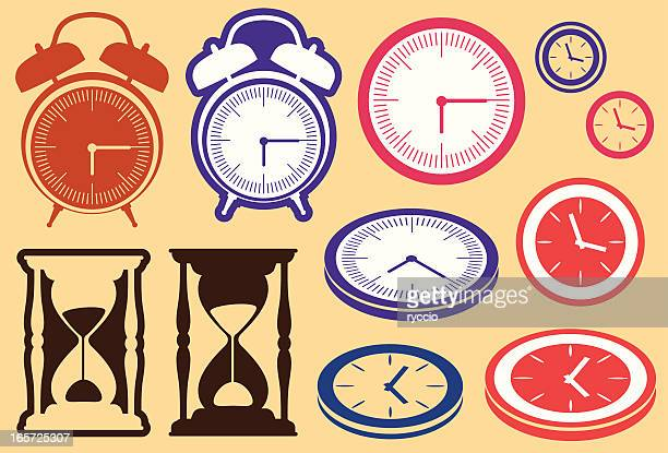 Clock and hourglass design elements