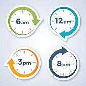 Clock Arrow Symbols