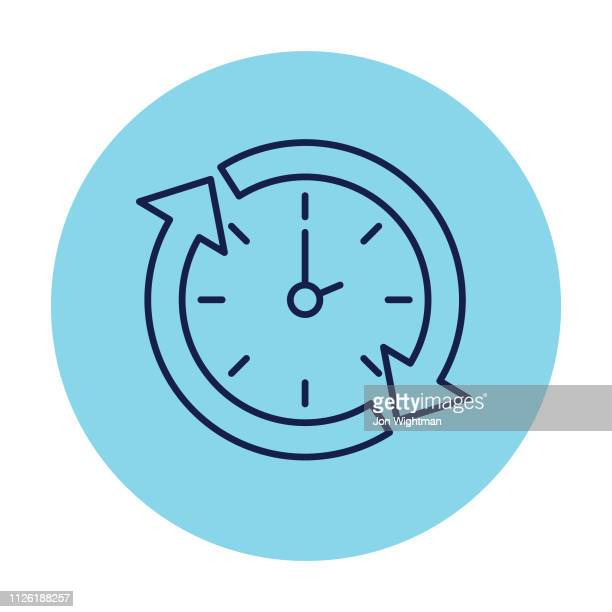 Clock Arrows - Thin Line Time Icon