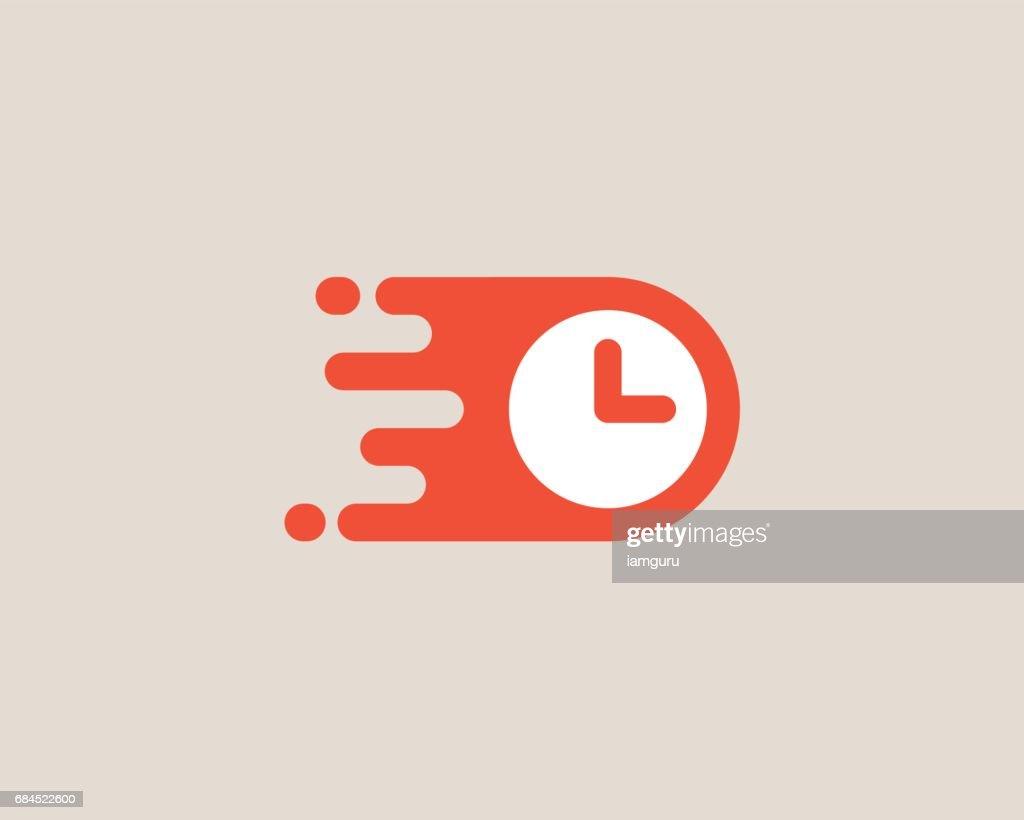 Clock emblemtype. Time management vector emblem design.
