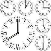 Clock face. Roman numerals