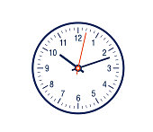 Clock face showing time