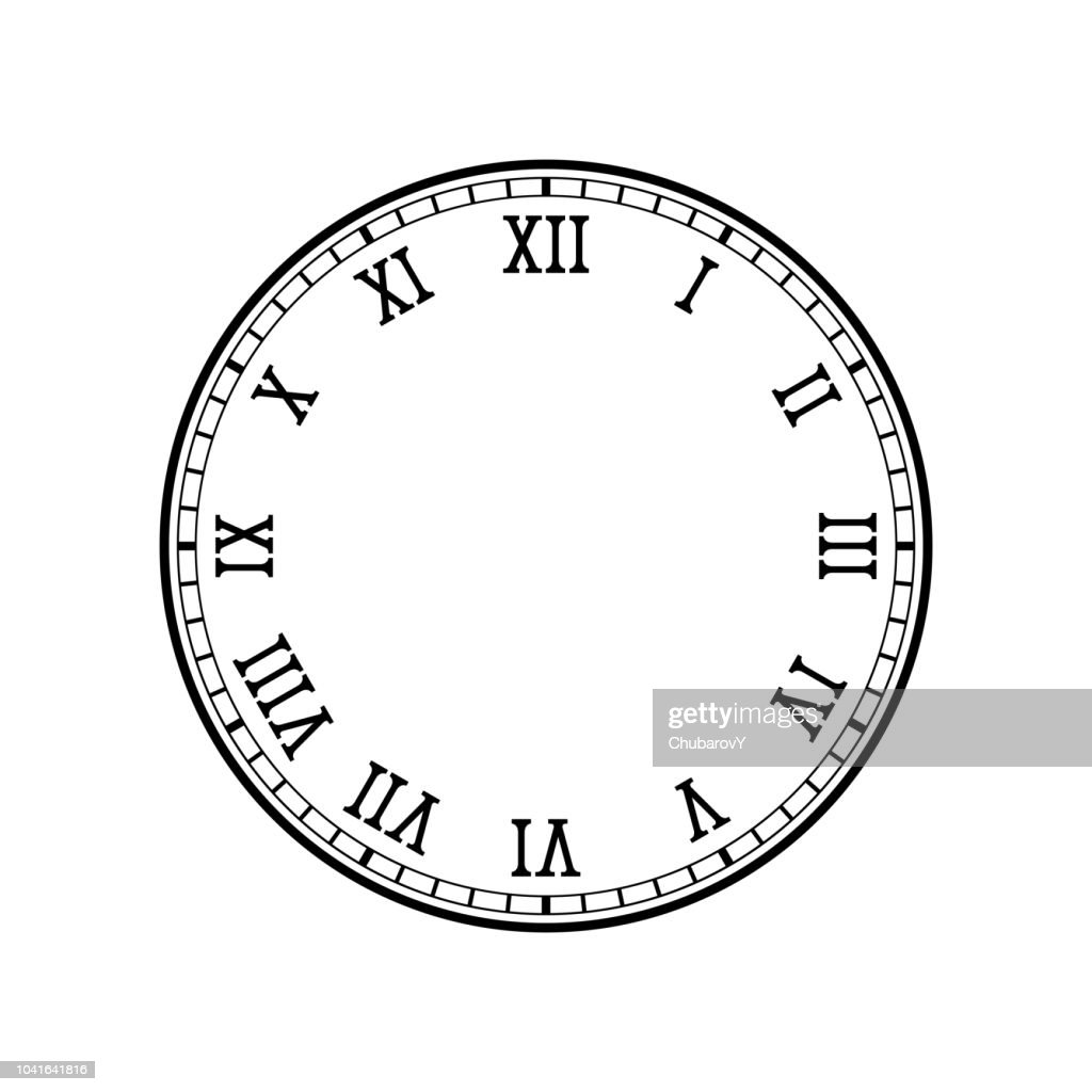 Clock face with roman numerals