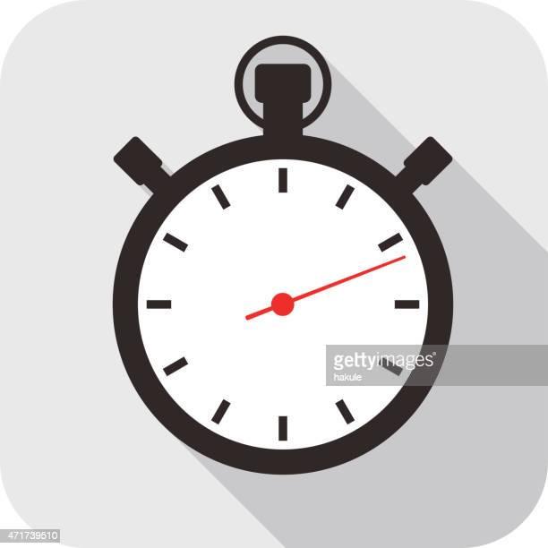 ilustrações, clipart, desenhos animados e ícones de relógio ícone plana ícone do design, relógio - um único objeto
